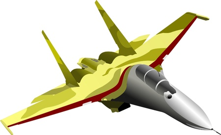 vector combat aircraft Illustration