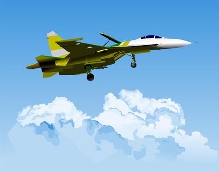vector combat aircraft Stock Vector - 9551722