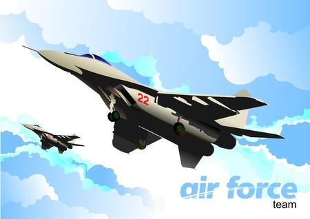 battle plane: aviones de combate de vectores Vectores