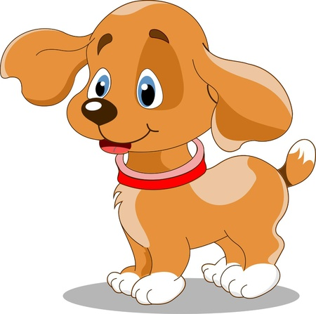 puppies: Illustration of the cute fun puppy