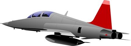 Vector combat aircraft Stock Vector - 9551570