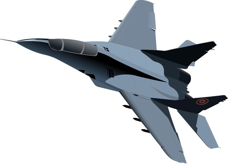 vehicle combat: Vector combat aircraft Illustration