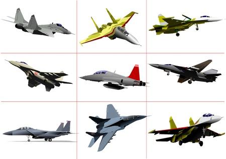 fighter pilot: Team air force. Illustrazione vettoriale