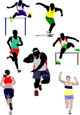 Set of some kinds of athletics. Vector illustration Vector