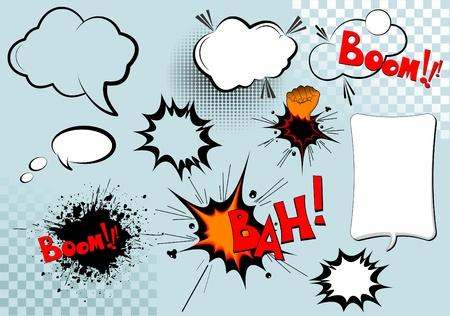 g�lle: Gro�e Gruppe von comic-Elementen f�r Ihren Entwurf