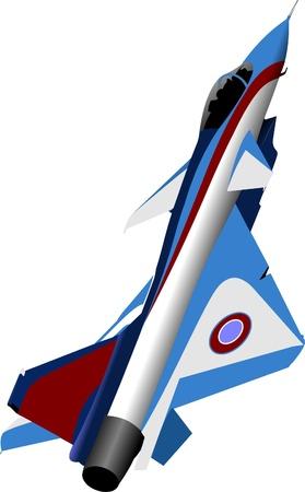 Vector combat aircraft Stock Vector - 9551597