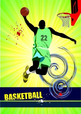 dunk: Basketball poster. Vector illustration