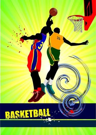 poster print: Basketball poster. Vector illustration