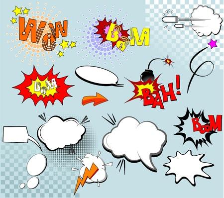 g�lle: Gro�e Gruppe von komischen Elementen f�r Ihr design