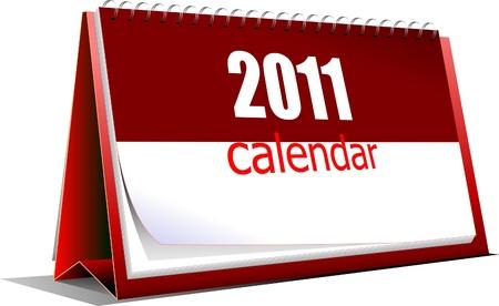 Vector illustration of desk calendar. Title Vector