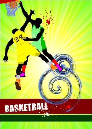 hopping: Basketball poster. Vector illustration