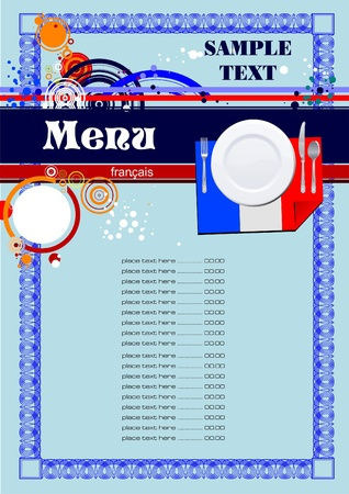 French restaurant (cafe) menu Stock Vector - 9552035