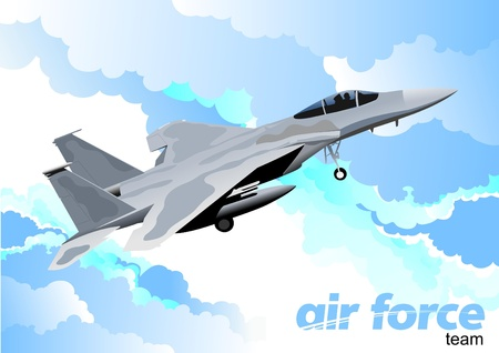 Vector combat aircraft Stock Vector - 9551708