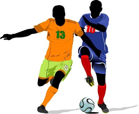 arquero de futbol: Jugador de fútbol. Color ilustración vectorial para diseñadores