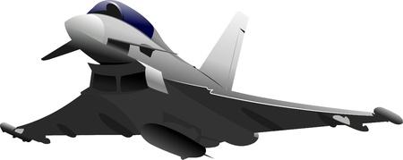 battle plane: Aviones de combate. Ilustraci�n vectorial color para dise�adores