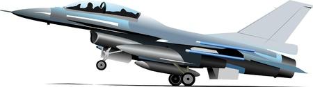 Gevechtsvliegtuigen. Gekleurde vector illustratie voor ontwerpers