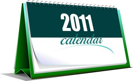 calendario da tavolo: Illustrazione vettoriale di calendario da tavolo. Vettoriali