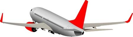 taking off: Avi�n que despegaba. Ilustraci�n vectorial para dise�adores