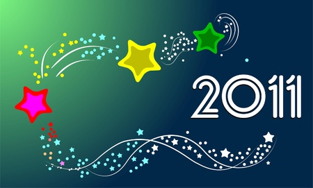 New Years card 2011 with place for your text Stock Vector - 9551652