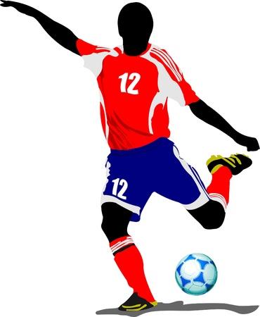 joueurs de foot: Joueurs de soccer. Illustration de vecteur color�e pour les concepteurs