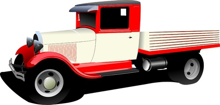 Old fashioned rarity truck. Vector illustration Vector