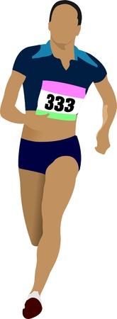 The running people. Sport. Running. Vector illustration