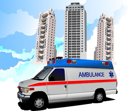Dormitory and ambulance. Vector illustration Stock Vector - 9551853