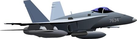 Kampfflugzeuge. Team. Farbigen Vektor-Illustration f?r Designer Vektorgrafik