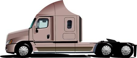 diesel engine: Vector illustration of pink  truck