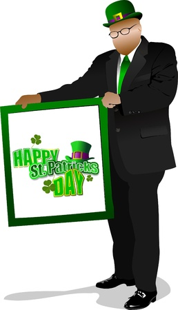 Illustration of St. Patrick's Day. Leprechaun. Vector Stock Vector - 9551638