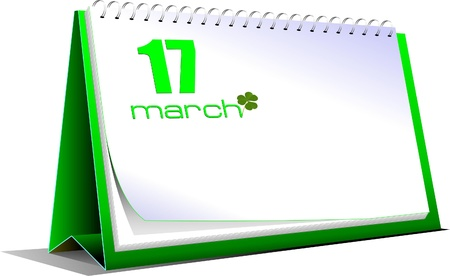 march 17: 17 march. St. Patrick`s day Illustration