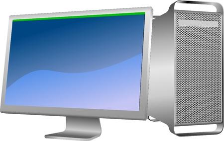 Flat computer monitor. Stock Vector - 9552774