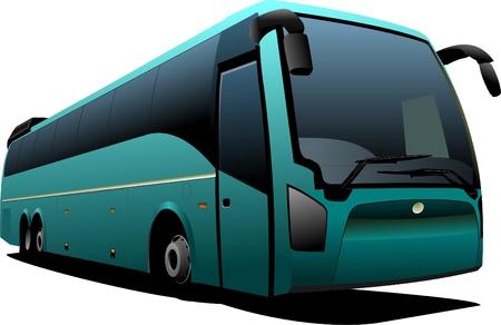 ausflug: Gr�ne Touristenbus. Trainer.