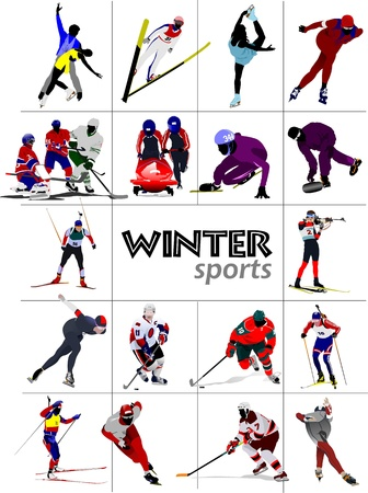 ski track: Big set of Winter sports.
