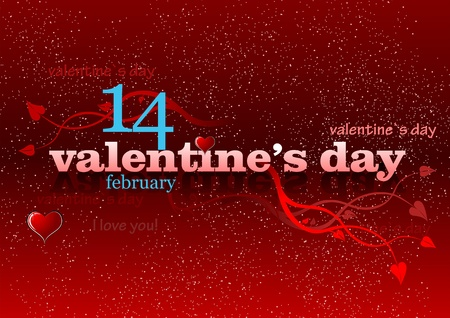 Valentine`s Day red background. 14 February. vector illustration illustration