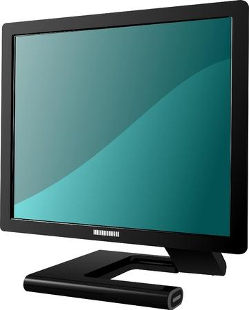 Flat computer monitor. Display. Vector illustration Stock Illustration - 9569955
