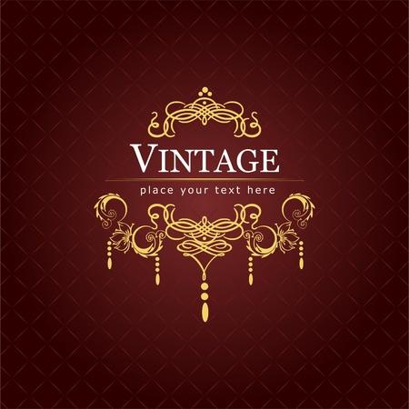 Invitation vintage card. Wedding or Valentine`s Day. Vector illustration illustration