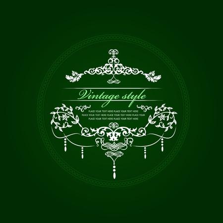 Jahrgang Einladungskarte. Hochzeit oder den Valentinstag. Vektor-illustration