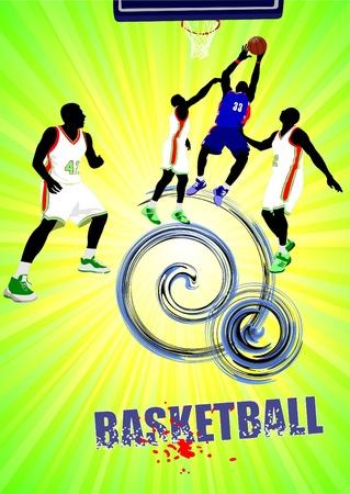 Poster of Basketball poster. Vector illustration illustration
