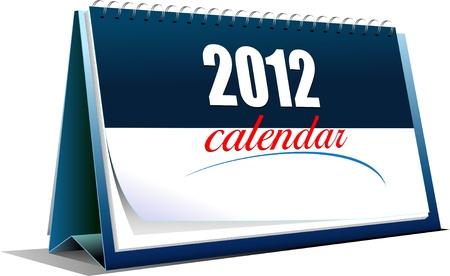 calendario da tavolo: Illustrazione vettoriale del calendario da tavolo. anno 2012