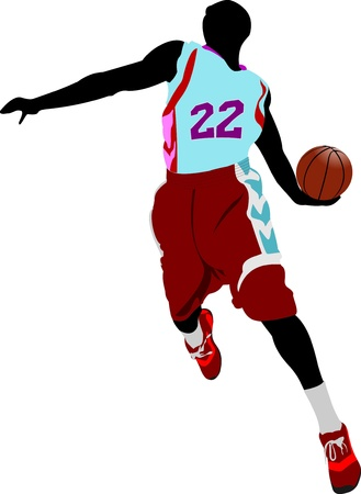 Basketball player. Vector illustration Vector