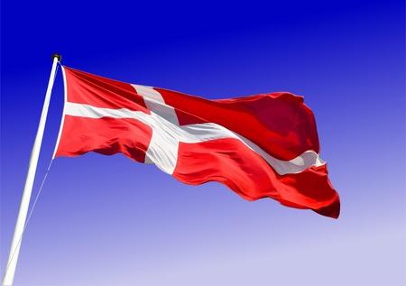 denmark: Flag of Denmark Illustration