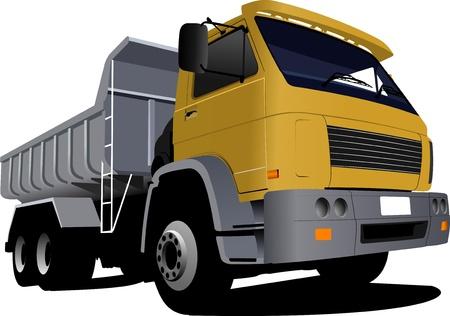 truck image. Vector illustration Vector