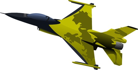 vehicle combat: Air force team. Vector illustration Illustration