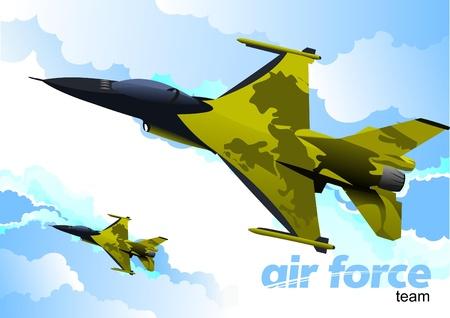 Air force team. Vector illustration Vector