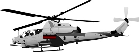 military background: Air force. Combat helicopter. Vector illustration Illustration