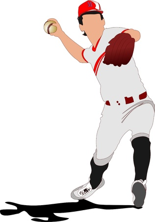 batter: Baseball player. Vector illustration