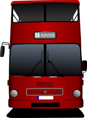 double decker: London double Decker  red bus. Vector illustration