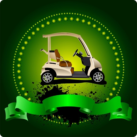 golfer swinging: Golfer club emblem. Vector illustration Illustration