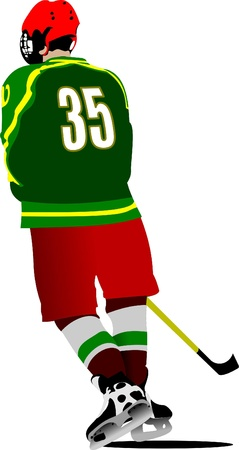 ice hockey player: Ice hockey players. Colored Vector illustration for designers